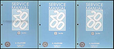2000 Cadillac Seville Repair Manual Original 3 Volume Set