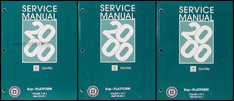 2000 Cadillac Deville Repair Manual Original 3 Volume Set