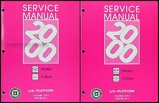 2000 Malibu Repair Manual Original 2 Volume Set