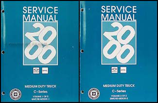 2000 Topkick & Kodiak C-6000/7000 Repair Manual Original 2 Volume Set