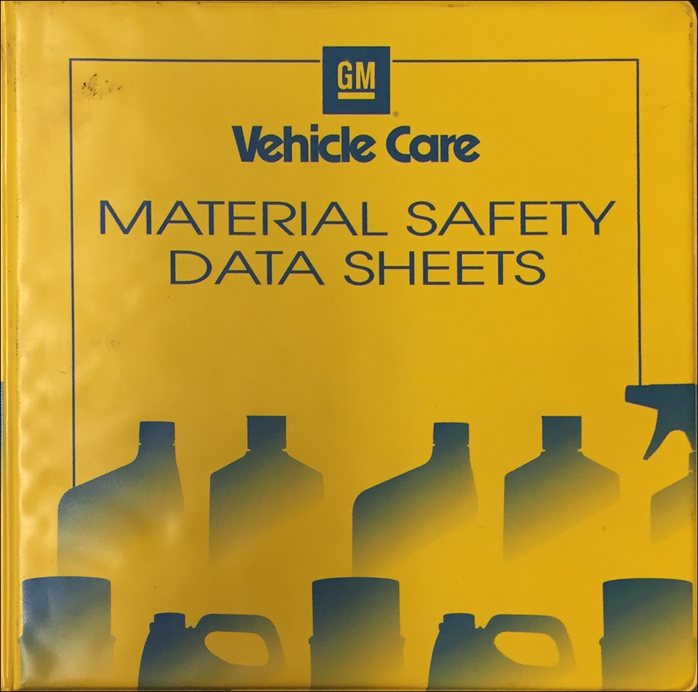 2000 GM Material Safety Data Book Original