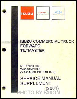 2001-2003 NPR, W3500, & W4500 Gas Repair Manual Supplement