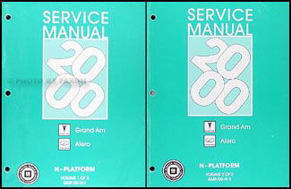 2000 Grand Am/Alero Repair Manual Original 2 Volume Set