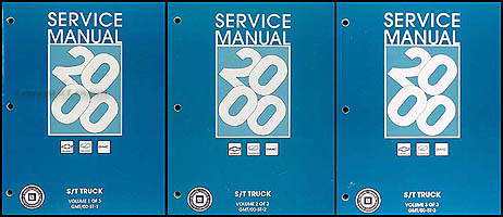 2000 S-10 Sonoma Jimmy Blazer Envoy Bravada Repair Shop Manual Set of 3