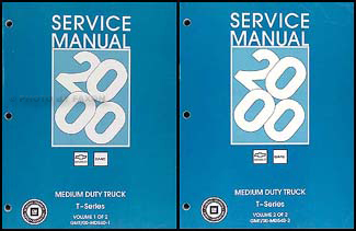 2000 T Series Tilt Cab Medium Duty Truck Repair Shop Manual Original Set