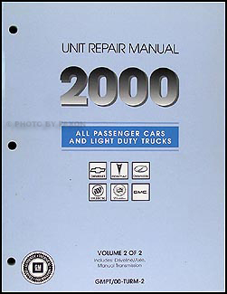 2000 GM Automatic Transmission Overhaul Manual Original
