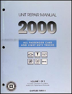 2000 GM Manual stick Transmission & 4x4 Transfer Case Overhaul Manual