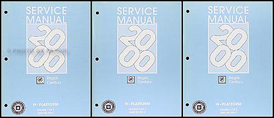 2000 Buick Regal & Century Repair Manual Original 3 Volume Set
