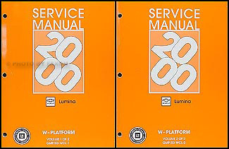 2000 Lumina Repair Manual Original 2 Volume Set