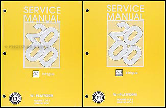 2000 Oldsmobile Intrigue Repair Manual Original 2 Volume Set