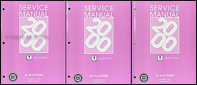 2000 Pontiac Grand Prix Repair Manual Original 3 Volume Set