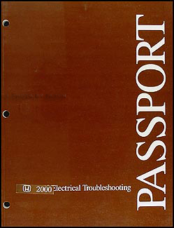 2000 Honda Passport Electrical Troubleshooting Manual Original