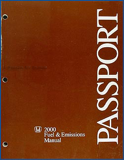 2000 Honda Passport Fuel & Emissions Repair Manual Original