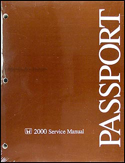 2000 Honda Passport Shop Manual Original