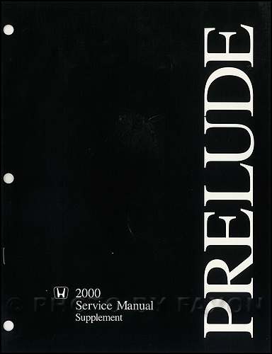 2000 Honda Prelude Repair Manual Original Supplement