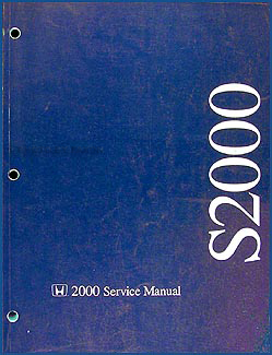 2000 Honda S2000 Repair Manual Original