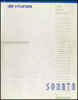 2000 Hyundai Sonata Shop Manual Original