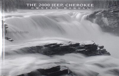 2000 Jeep Cherokee Owner's Manual Original