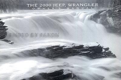 2000 Jeep Wrangler Original Owner's Manual