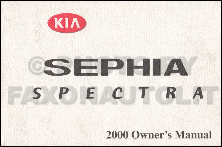 2000 Kia Spectra Owners Manual Original