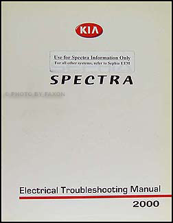2000 Kia Spectra Electrical Troubleshooting Manual Original