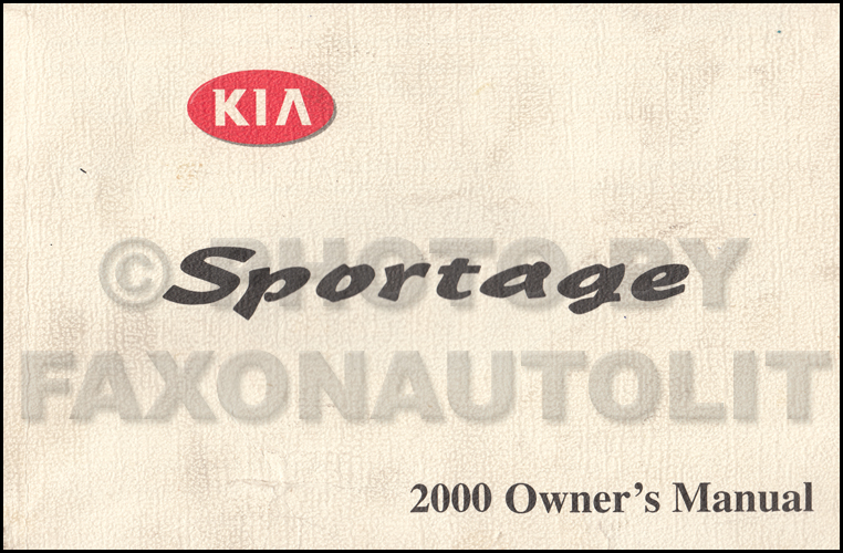 2000 Kia Sportage Owners Manual Original