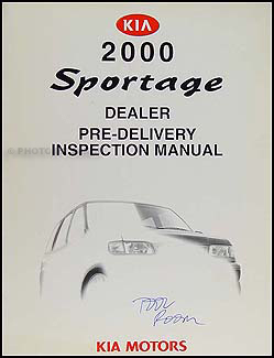 2000 Kia Sportage Inspection Manual Original