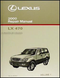 2000 Lexus LX 470 Repair Manual Volume 1 Original