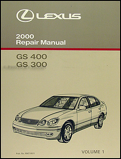 2000 Lexus GS 300 400 Original Repair Manual Volume 1 Only