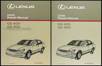 2000 Lexus GS 300 GS 400 Original Repair Manual 2 Volume Set