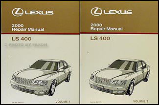 2000 Lexus LS 400 Repair Manual Original 2 Volume Set