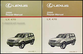 2000 Lexus LX 470 Repair Manual Original 2 Volume Set