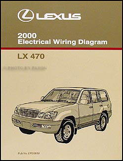 2000 Lexus LX 470 Wiring Diagram Manual Original