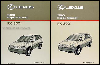 2000 Lexus RX 300 Repair Manual Original 2 Volume Set