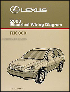 2000 Lexus RX 300 Wiring Diagram Manual OriginalFaxon Auto Literature