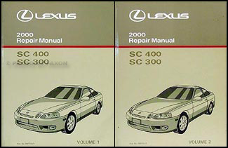 2000 Lexus SC 300 & SC 400 Repair Manual Original 2 Volume Set