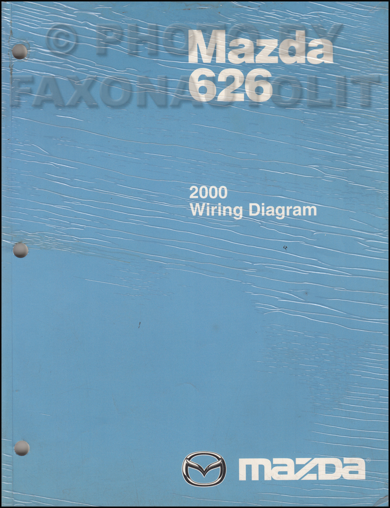 2000 Mazda 626 Wiring Diagram Manual Original