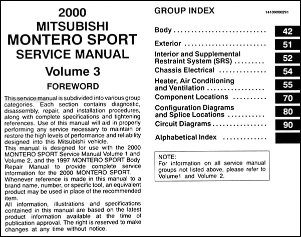 Mitsubishi montero sport repair manual 1997 2004.