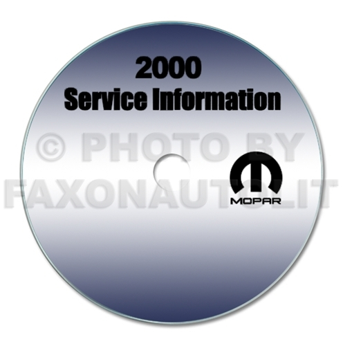 2000 Jeep Grand Cherokee Repair Shop Manual CD-ROM