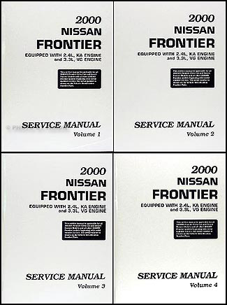 2000 Nissan Frontier Pickup Repair Manual Set Original