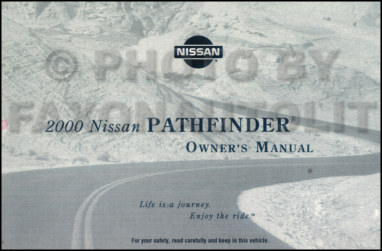 2000 Nissan Pathfinder Owner's Manual Original