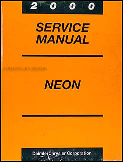 2000 Neon Shop Manual Original