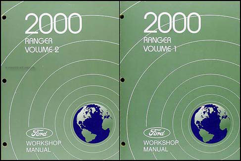 2000 Ford Ranger Repair Manual Original 2 Volume Set