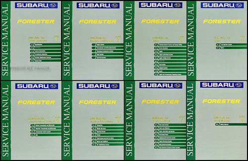 2000 Subaru Forester Repair Manual Original 8 Volume Set