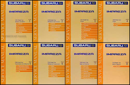 2000 Subaru Impreza Repair Manual 8 Volume Set Original