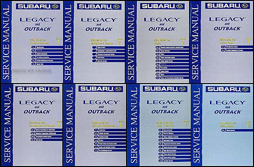 2000 Subaru Legacy & Outback Repair Manual Set Original
