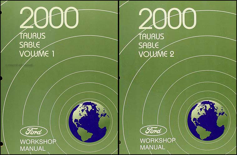 2000 Ford Taurus & Mercury Sable Shop Manual 2 Volume Set Original
