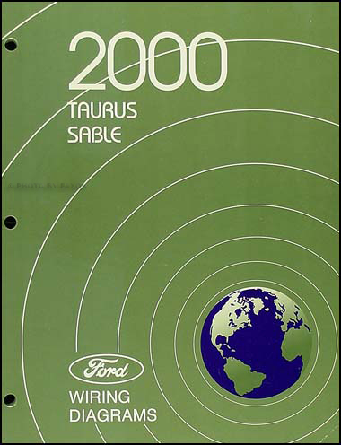 2000 Ford Taurus & Mercury Sable Wiring Diagram Manual Original