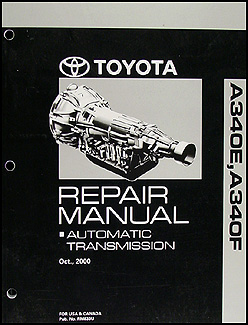 2001-2004 Toyota Sequoia Automatic Transmission Repair Manual Original
