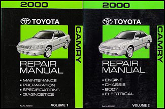 2000 Toyota Camry Repair Manual 2 Volume Set Original